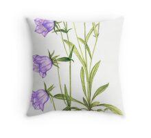 Bell Blue - Campanula persica Throw Pillow