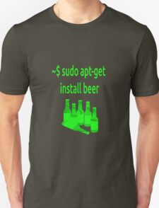 Linux sudo apt-get install beer T-Shirt