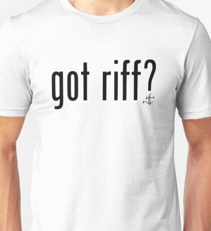 got riff ? White Unisex T-Shirt