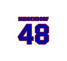 National Hockey player Max Middendorf jersey 48 Photographic Print