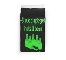 Linux sudo apt-get install beer Duvet Cover