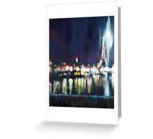 Paris at night part one Greeting Card