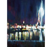 Paris at night part one Photographic Print