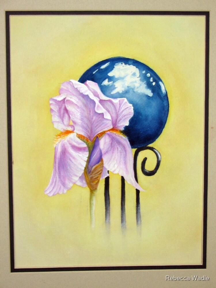 Iris & Gazing Ball by Rebecca Wadle