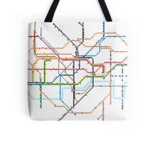 London Underground Pixel Map Tote Bag