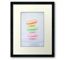 French Macaron Framed Print