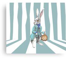 Follow the White Rabbit Canvas Print