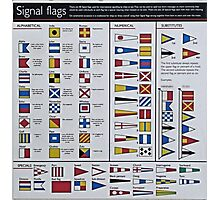 HMY Britannia Signal flags poster Photographic Print