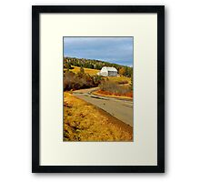Winding Country Road Framed Print