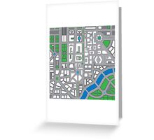 Maps of cities. Greeting Card