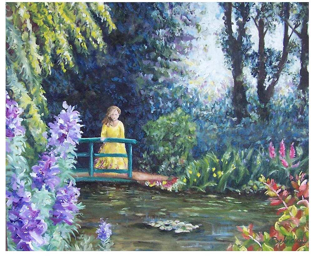Monets Garden by Belinda Lindhardt