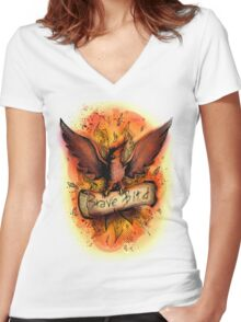 Talonflame - Brave Bird Women's Fitted V-Neck T-Shirt