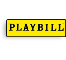 Playbill  Canvas Print