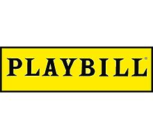 Playbill  Photographic Print
