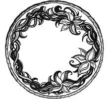 Organic Floral Wreath by Danielle J. Scott (Smith)