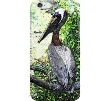 Proudest Pelican - Watercolor Look iPhone Case/Skin