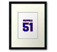 National Hockey player Valtteri Filppula jersey 51 Framed Print
