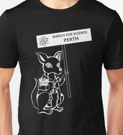 March for Science Perth – Kangaroo, white Unisex T-Shirt