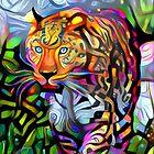 Wild leopard in the grass by siwabudda