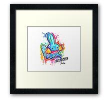 Cute Mudkip Spraypaint Tshirts + More! ' Pokemon ' Framed Print