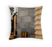 Grain silos Throw Pillow