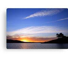 Just the end of another day Canvas Print
