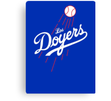 Los Doyers (White)  Canvas Print