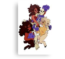 three fauns and the hunter Canvas Print