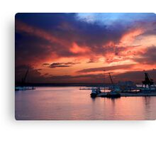 An 'Italian Sunset'  Canvas Print