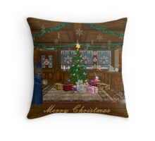 Mrs Mouse Candy Shoppe Throw Pillow