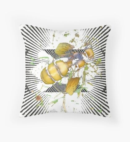 What's the Buzz Throw Pillow