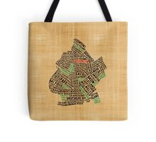 Brooklyn New York Typography Map Tote Bag