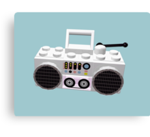 Brick Hop Ghetto Blaster Canvas Print