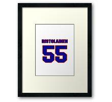 National Hockey player Rasmus Ristolainen jersey 55 Framed Print