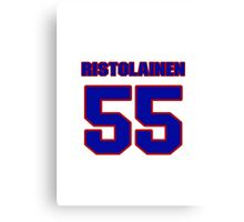 National Hockey player Rasmus Ristolainen jersey 55 Canvas Print