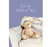Lonely Teddy Photographic Print