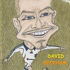 David Beckham Caricature by Brendan Williams