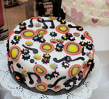 Italian Arts and Crafts. Cake with musical Painting by madigitalart