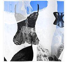 Blue Boudoir Poster