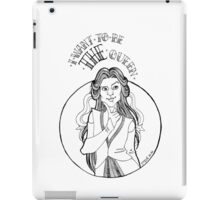 THE queen - B/W iPad Case/Skin