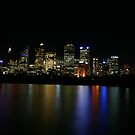 Night Scenes Over the Beautiful Sydney Harbour by MaluMoraza