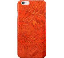 Marbling - Orange blaze  iPhone Case/Skin
