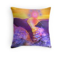 DOLPHINS SWIMMING HOME Throw Pillow