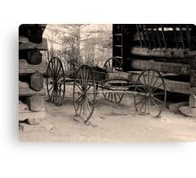 Wagon Of Old Canvas Print