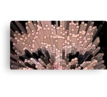 Exploding squares Canvas Print