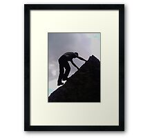 Man who faces nature Framed Print