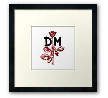 Depeche Mode : Violator DM Paint Black  Framed Print