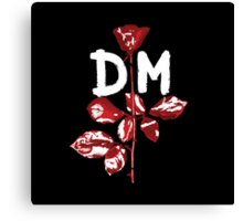 Depeche Mode : Violator DM Paint White Canvas Print