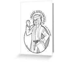 Peace, Land, Victory, Tentacles - B/W Greeting Card