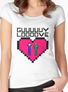 GUY LOVE Women's Fitted Scoop T-Shirt